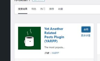 推荐一个WordPress相关文章的插件Yet Another Related Posts Plugin